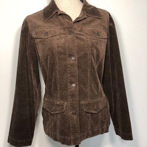 Liz Claiborne dark mocha corduroy Utility jacket